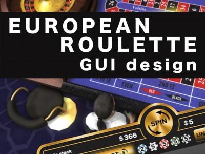 HÍREK - European Roulette GUI design