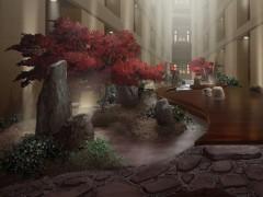 Buddha Bar Hotel belső kert részlet