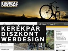 HÍREK - KERÉKPÁR DISZKONT weboldal, arculatterv